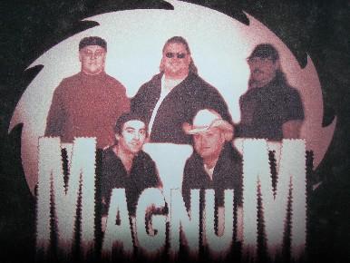 magnum band t shirt